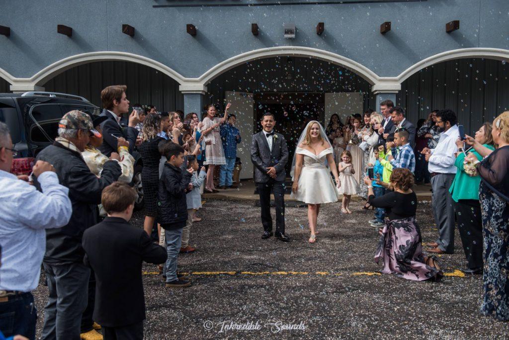 Bubble Exit Wedding